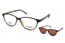 Polar 404 c 428 CLIP-ON Коррекционные очки c солнцезащитными клипсами