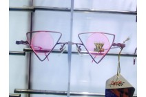 Steampunk Triangle Pink Round Lens Sun Glasses 685 с/з