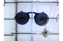 Steampunk Round Black flip up industrial Goth cool sunglasses Hi Tek Alexander с/з